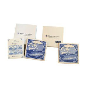 Holland America Line authentic blue coasters